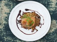 Marinated Trout with Honey Mustard Vinaigrette and Hash Browns recipe