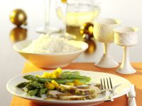 Marinated Turkey Breast with Asparagus and Mango recipe