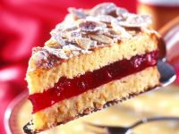 Marzipan Cake with Pomegranate Jelly recipe