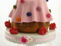 Marzipan-Coated Bundt Cake with Chocolate Candies recipe