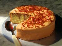 Marzipan Orange Cake with Caramelized Orange Peel recipe