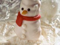 Marzipan Snowman Cakes