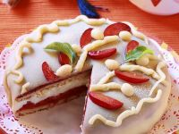 Marzipan Torte with Plums recipe