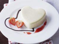 Mascarpone Pudding with Strawberry Sauce recipe