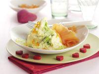 Mashed Potatoes with Caviar and Smoked Salmon recipe