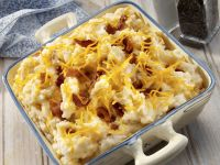 Mashed Potatoes with Cheddar Cheese and Bacon recipe