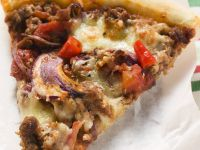 Meat and Onion Pizza recipe