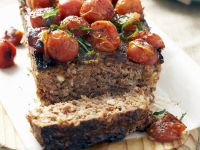 Mixed Meat Loaf with Tomato Topping recipe