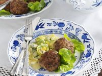 Meat Patties with Potato Salad recipe