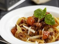 Meat Sauce and Pasta Bowl recipe