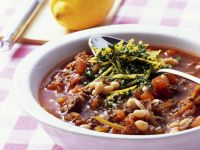 Meat Sauce with White Beans and Gremolata recipe