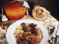 Meat Stew with Beans (tscholent) recipe