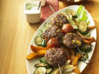 Meatball Skewers with Mixed Vegetables recipe