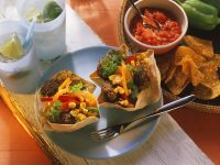 Meatball Tacos with Peppers and Corn recipe