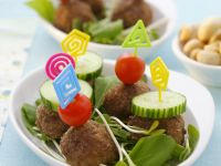 Rissoles with Salad Vegetables recipe