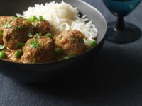 Meatballs in Curry Sauce with Rice recipe
