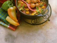 Meatballs with Bell Pepper Ragout recipe