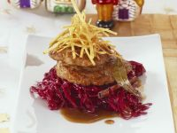 Meatballs with Braised Red Cabbage and Gingerbread Beer Sauce recipe