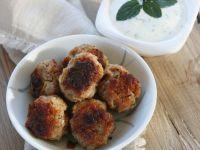 Meatballs with Creamy Mint Dip recipe