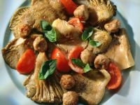 Meatballs with Mushrooms and Tomatoes recipe