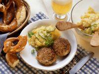 Meatballs with Sweet Potato Salad recipe