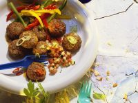 Meatballs with Vegetable Salads recipe