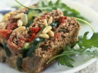 Meatloaf with Courgette and Pignoli recipe
