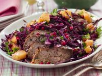 Meatloaf with Red Cabbage Salad recipe