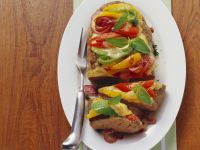 Meatloaf with Tomatoes, Peppers and Mozzarella recipe