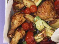 Mediterranean Chicken with Roasted Vegetables recipe