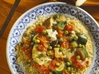 Mediterranean Couscous and Haddock