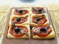 Mediterranean Puff Pastry Appetizers with Anchovies recipe