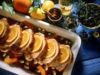 Mediterranean Roast Pork with Olives and Oranges recipe
