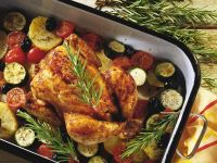 Mediterranean-Style Roast Chicken and Vegetables recipe