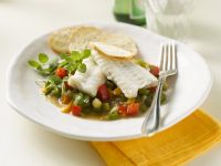 Mediterranean-Style Steamed Turbot with Vegetables recipe