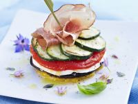 Mediterranean Vegetables with Mozzarella recipe