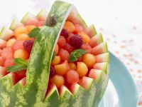 Melon Balls in the Melon recipe