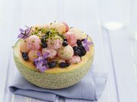 Melon Filled with Borage and Pistachios recipe