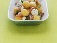 Melon, Mozzarella and Prosciutto Salad recipe