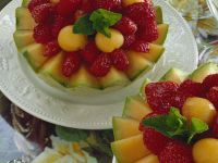 Melon Salad with Strawberries