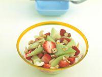 Melon-Strawberry Salad with Hazelnuts recipe