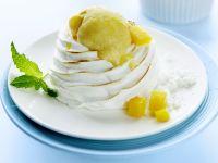 Meringue and Mango Ice Cream recipe