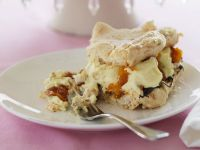 Meringue Cake with Chocolate and Apricots recipe