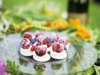 Meringue Cookies with Cherries recipe