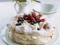 Meringue Gateau with Berries recipe
