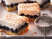 Meringue Topped Blueberry Squares recipe
