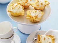 Meringue Topped Lemon Filo Tarts recipe