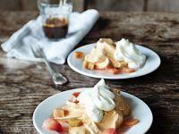 Meringues with Rhubarb and Cream recipe