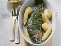 Meunière-Style Trout with Potatoes recipe