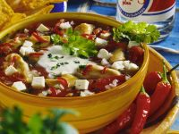 Mexican Chicken with Feta and Peppers recipe